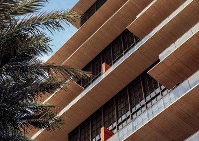 Photograph of the exterior design of Arte Surfside condo.