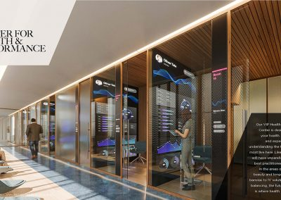 3D rendering sample of the center for health and performance design at Legacy Hotel & Residences condo.
