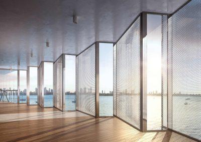 3D rendering sample of exterior screen design at Monad Terrace condo.